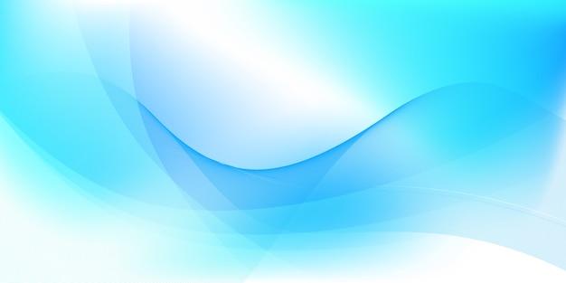 Абстрактный синий и белый фон Premium векторы