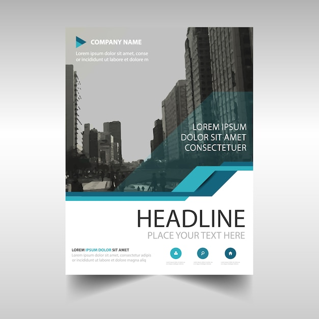 Abstract Blue Annual Report Brochure Vector  Free Download