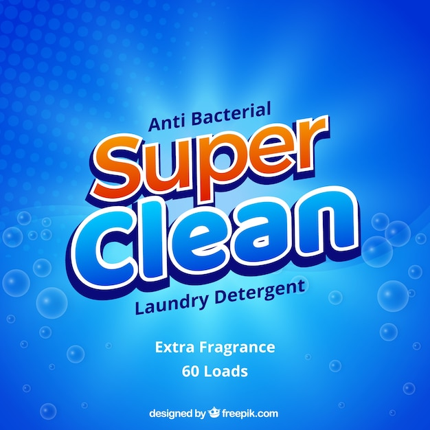 Abstract blue background of detergent Free Vector