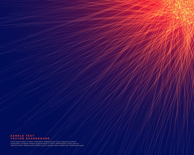 Abstract blue background with glowing red lines Free Vector