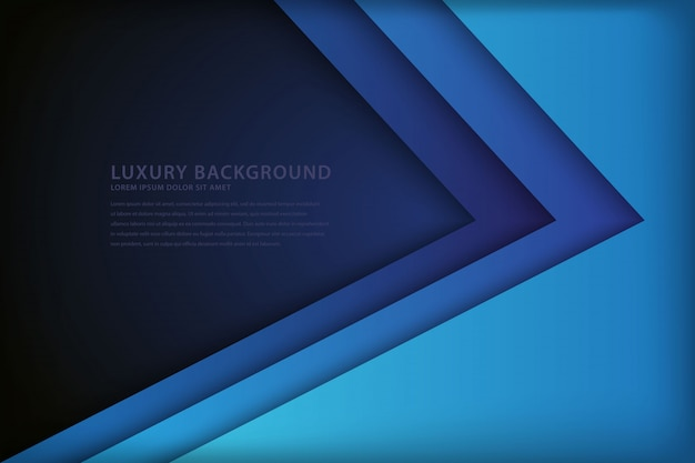Abstract blue background with overlapping style Premium Vector