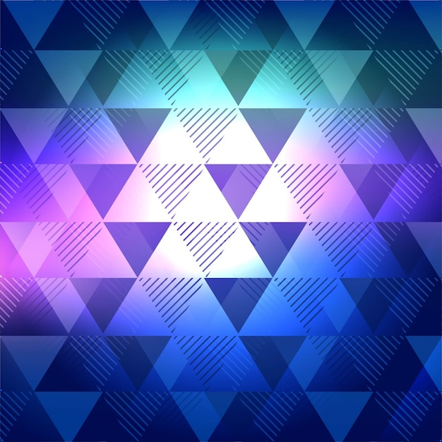 Abstract blue background with triangular shapes