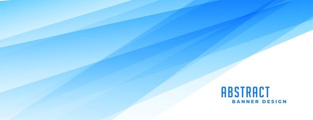 Абстрактный синий баннер с эффектом прозрачных линий Бесплатные векторы