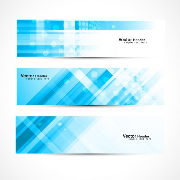 abstract blue banners vector free download