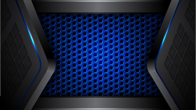 abstract blue black modern futuristic background vector premium