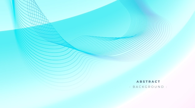 Abstract blue blackground with wavy lines Free Vector