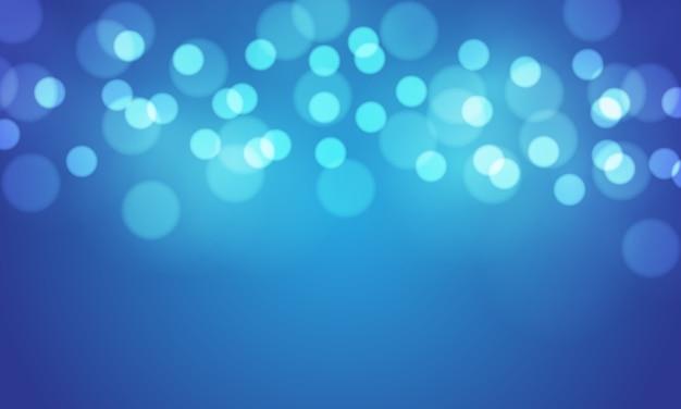 抽象的な青いボケ味は明るい背景をぼかします。 Premiumベクター