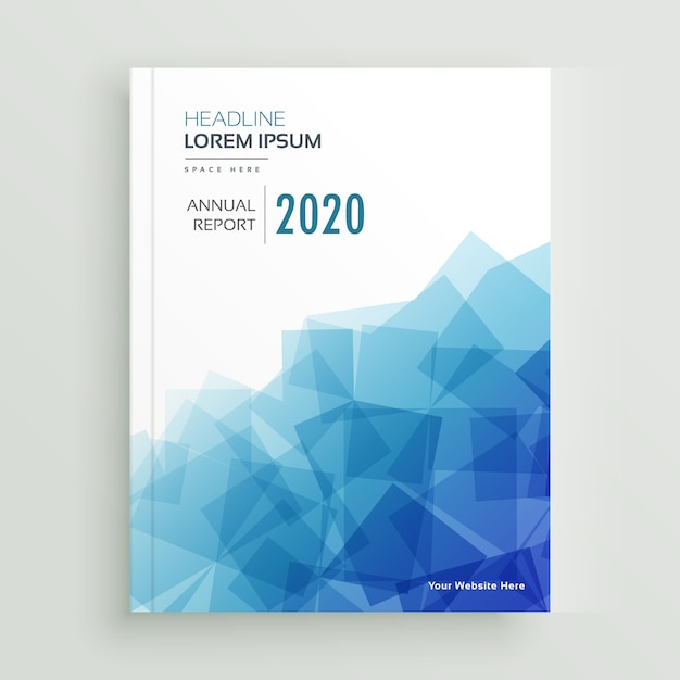 Abstract blue business brochure annual report page design Free Vector