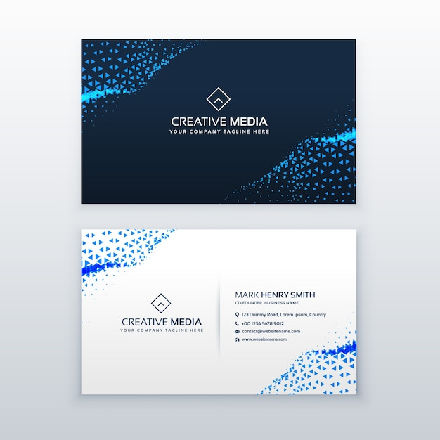Abstract blue business card design with triangles vector free download abstract blue business card design with triangles free vector reheart Image collections