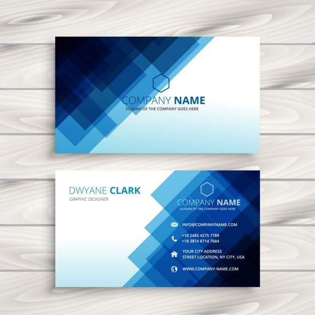 abstract blue business card template vector