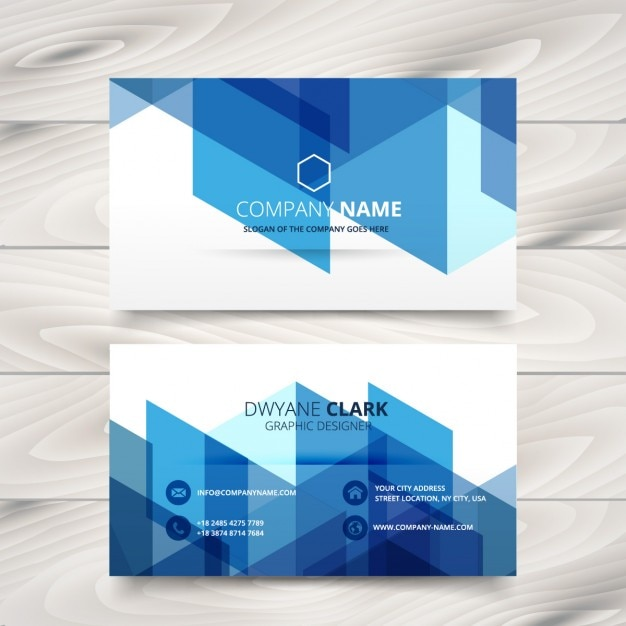 Abstract blue business card vector free download abstract blue business card free vector reheart Images
