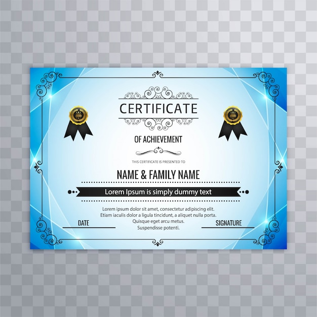 Certificate design vectors photos and psd files free download abstract blue certificate design yadclub Image collections