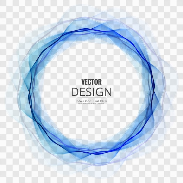 Abstract blue circle on transparent background Free Vector