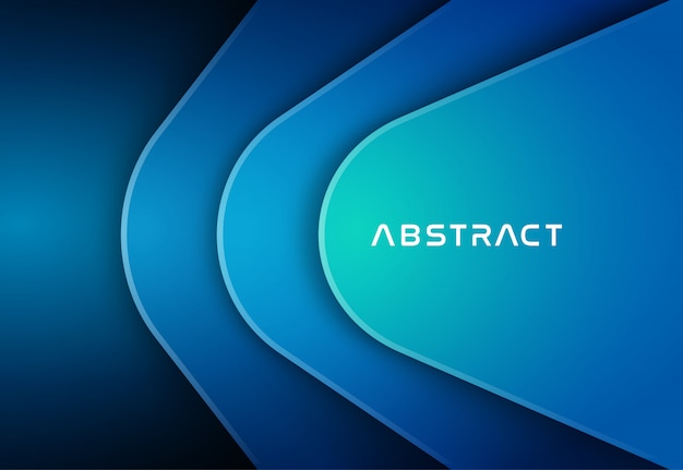 Abstract blue color background Premium Vector