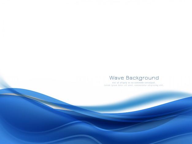 Абстрактный синий цвет фона волны Бесплатные векторы