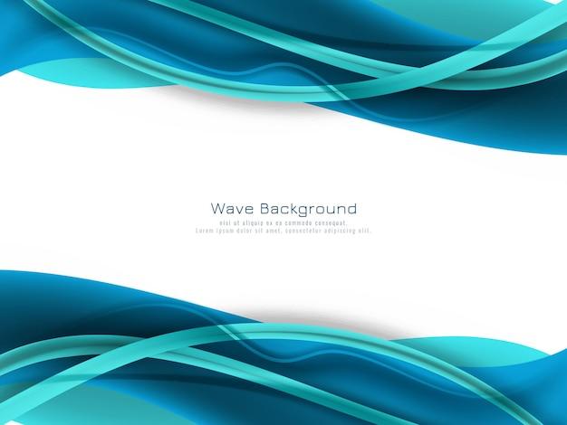 抽象的な青い色の波の背景 無料ベクター