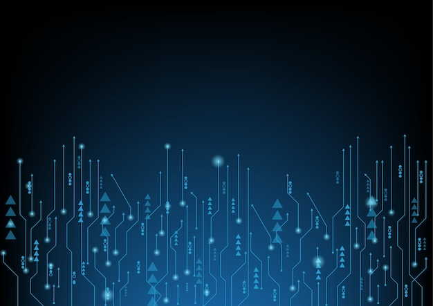 Abstract blue computer technology Premium Vector