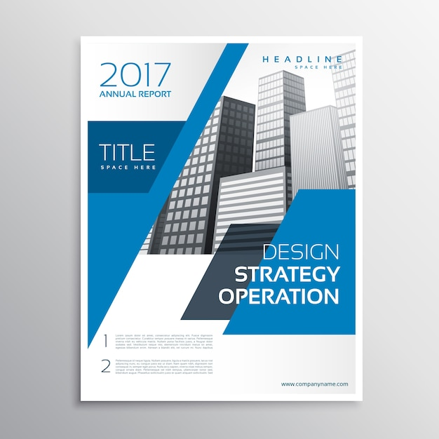 Abstract blue corporate business flyer design