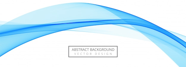 抽象的な青い創造的なビジネス波バナーの背景 無料ベクター