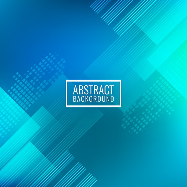 Abstract blue geometric background Premium Vector