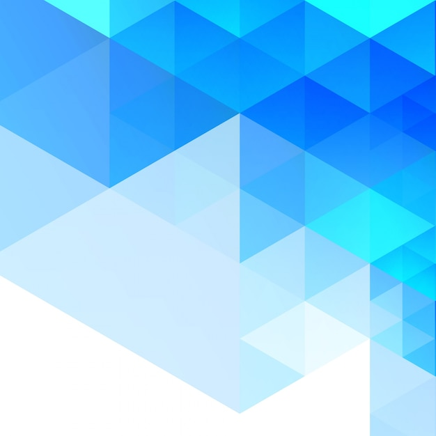 Abstract blue geometric background Vector | Free Download