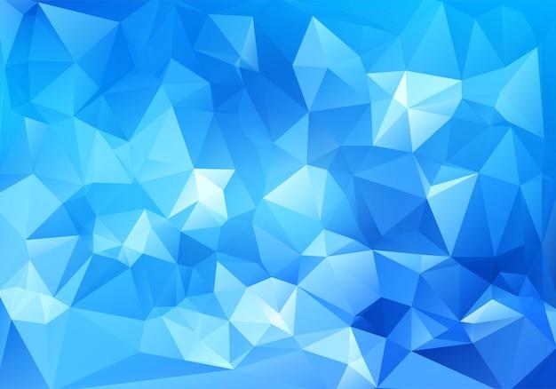Абстрактный синий геометрический многоугольной фон Бесплатные векторы