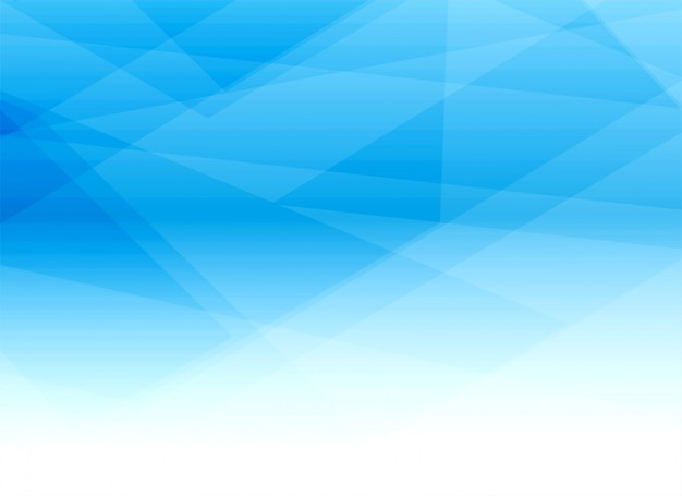 Abstract blue geometric shapes background design Free Vector