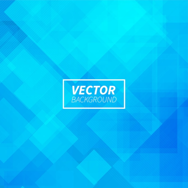 Abstract blue geometric shapes background Free Vector