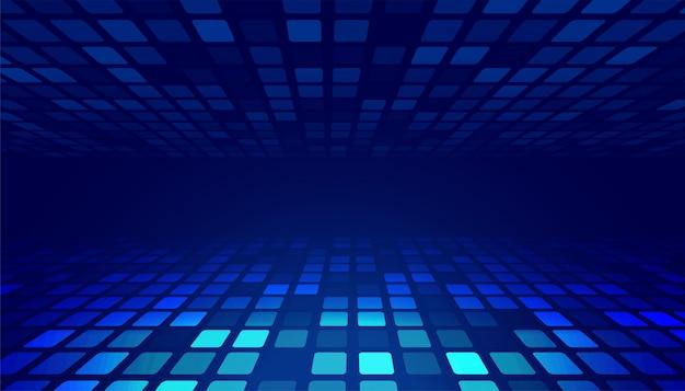 Priorità bassa d'ardore blu astratta di prospettiva di tecnologia Vettore gratuito