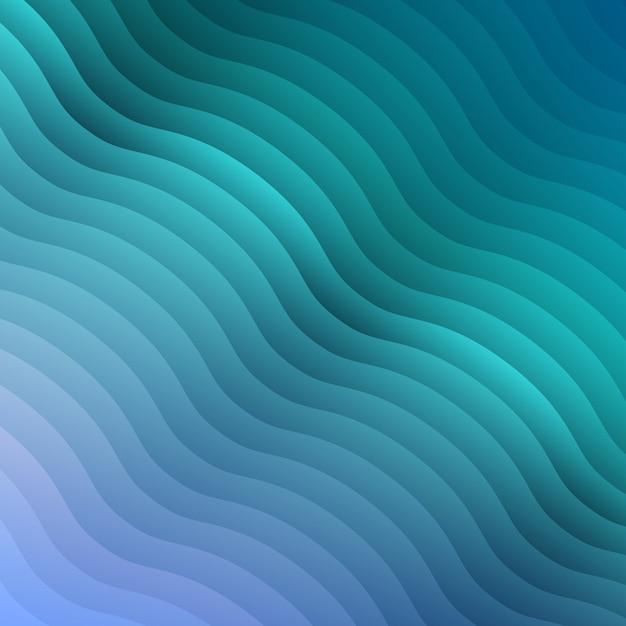 デザインパンフレット、ウェブサイト、チラシ、リップルパターンの壁紙の抽象的な青いグラデーションカラーの波背景。ビジネスプレゼンテーションの幾何学的な背景。 Premiumベクター