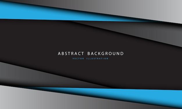 抽象的な青灰色の金属の三角形のデザインのモダンで未来的な背景。 Premiumベクター