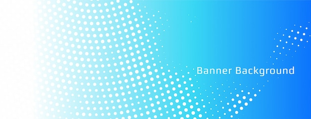 Abstract blue halftone banner template Free Vector