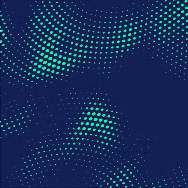 Abstract blue halftone dots background Free Vector