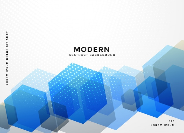 Abstract blue hexagonal business background Free Vector