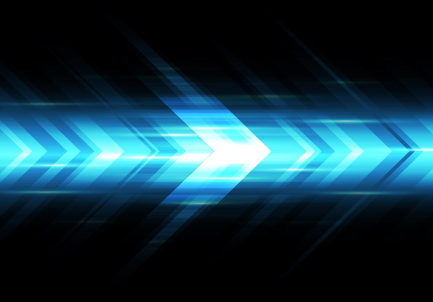 Abstract blue light arrow speed power technology futuristic background Premium Vector