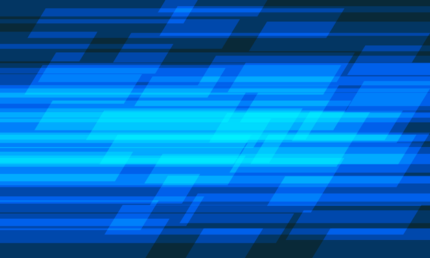 Abstract blue light geometric speed pattern design modern futuristic technology background. Premium Vector
