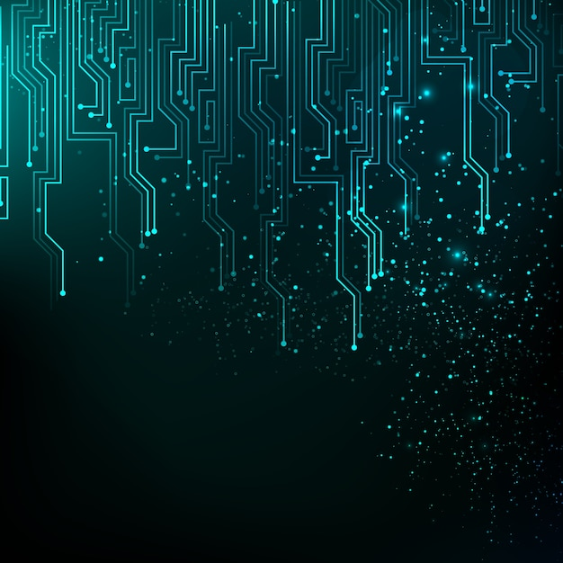 Abstract blue lights background Free Vector