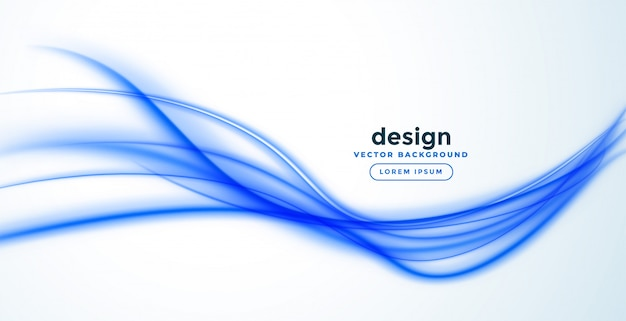 Abstract blue line wave banner design Free Vector