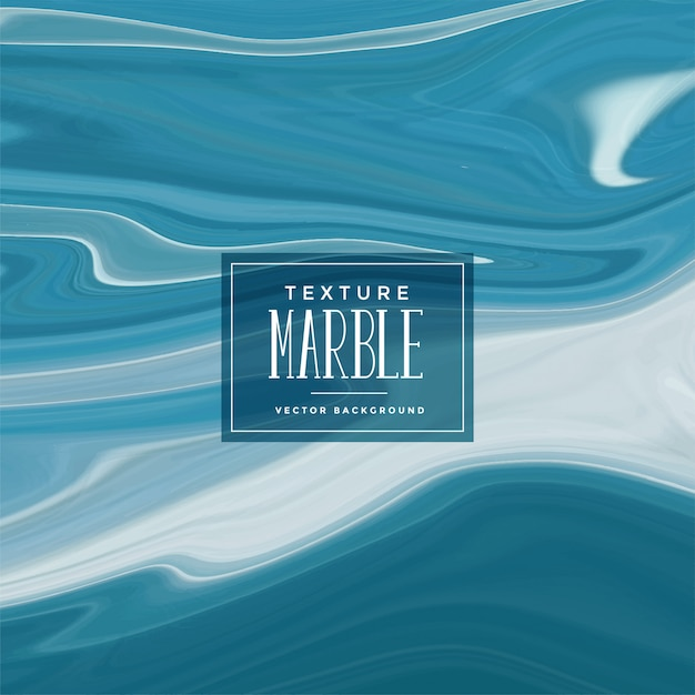Abstract blue liquid marble texture background Free Vector