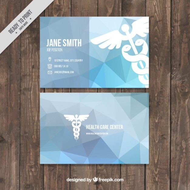 Abstract Blue Medical Business Card Vector Free Download - Medical business cards templates free