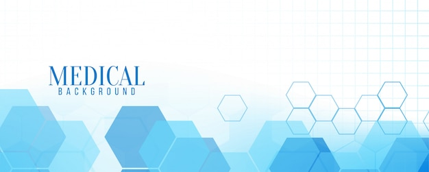 Abstract blue modern medical banner Free Vector