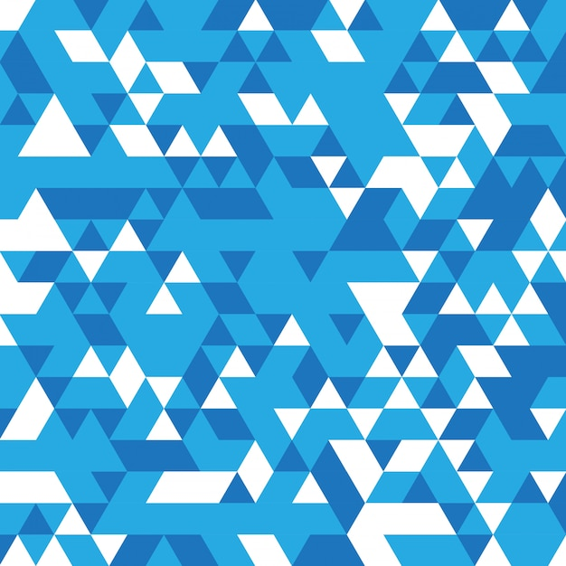 Abstract blue mosaic background Free Vector