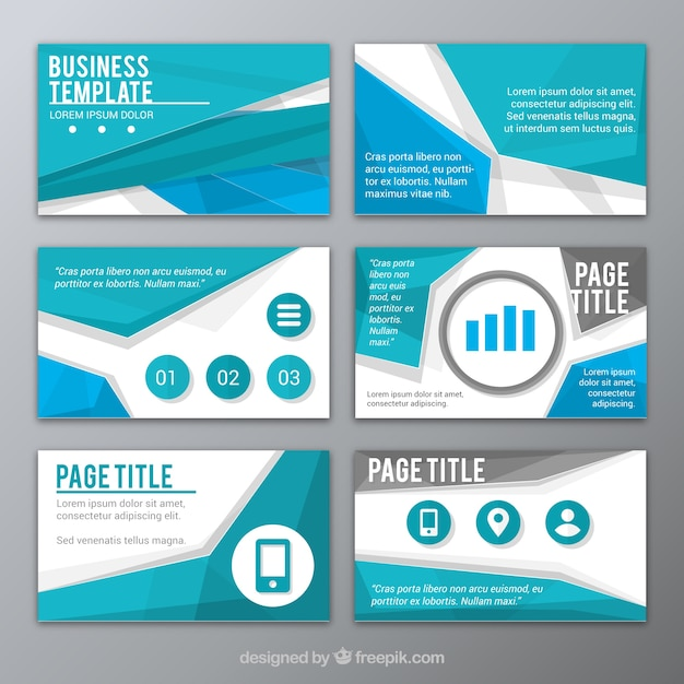 ppt templates free download - abstract blue presentation template vector free download