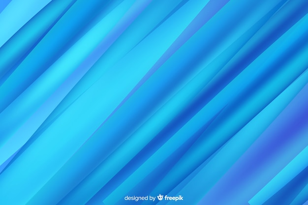 Abstract blue shapes background gradient Free Vector