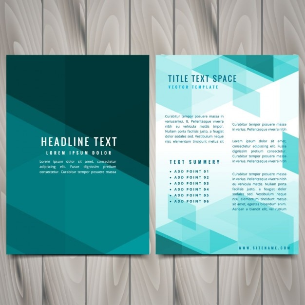 Abstract Blue Shapes Brochure Flyer Design Vector Free