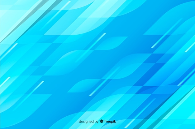 Abstract blue shapes decorative background Free Vector