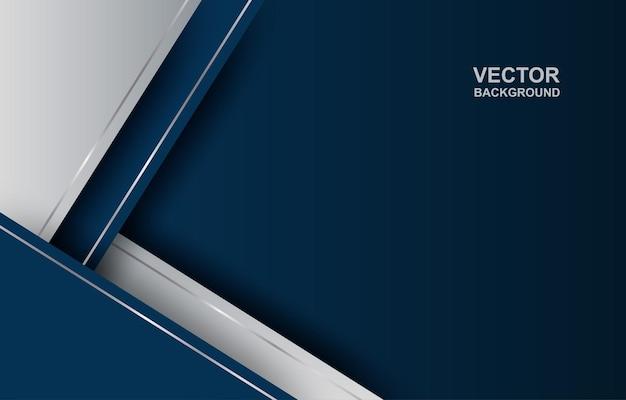 요약. 블루-실버 그라데이션 기하학적 중복 모양 배경. 프리미엄 벡터
