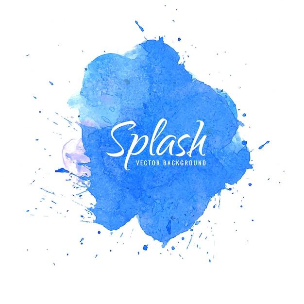 Abstract blue splash watercolor Free Vector