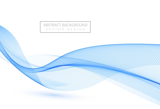 Abstract blue stylish flowing wave on white background Free Vector