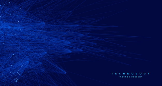 Abstract blue tachnology big data ai background Free Vector